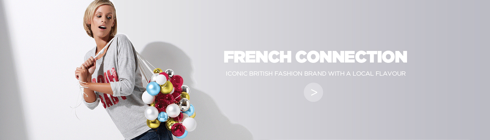 French Connection e-commerce website and mobile site built by NOW Solutions Digital Agency