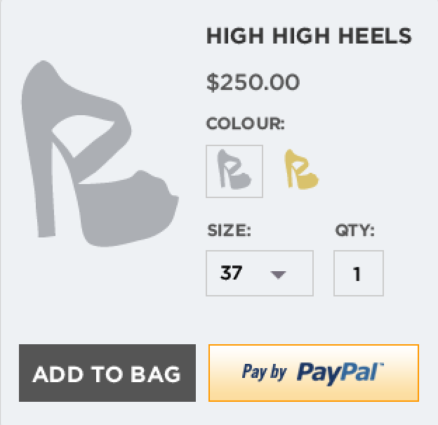 PayPal On Product Page