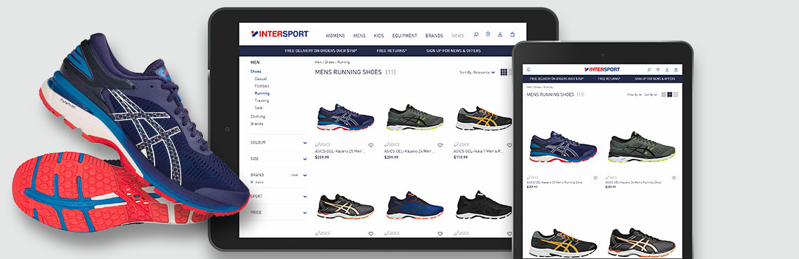Now Solutions Digital Agency Intersport Australia. Fully Responsive E-Commerce website.