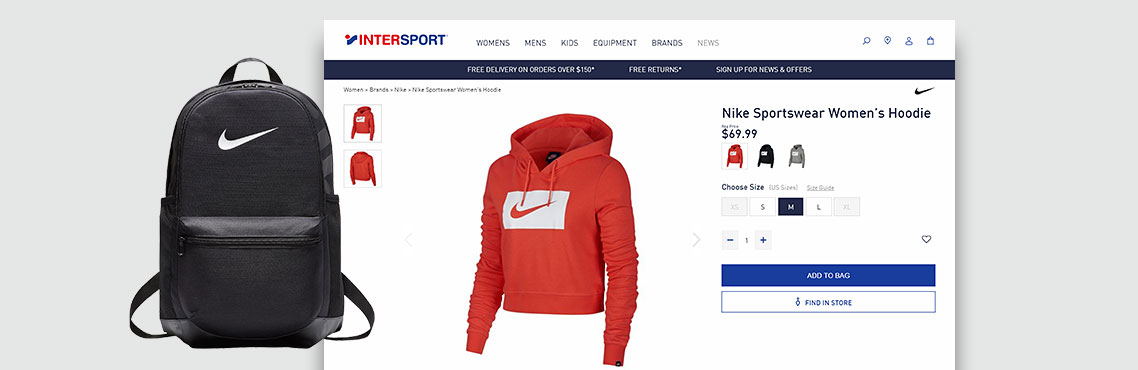 Now Solutions Digital Agency Intersport Australia. Smart Product Information Management System and Distributed Store Fulfilment Solution